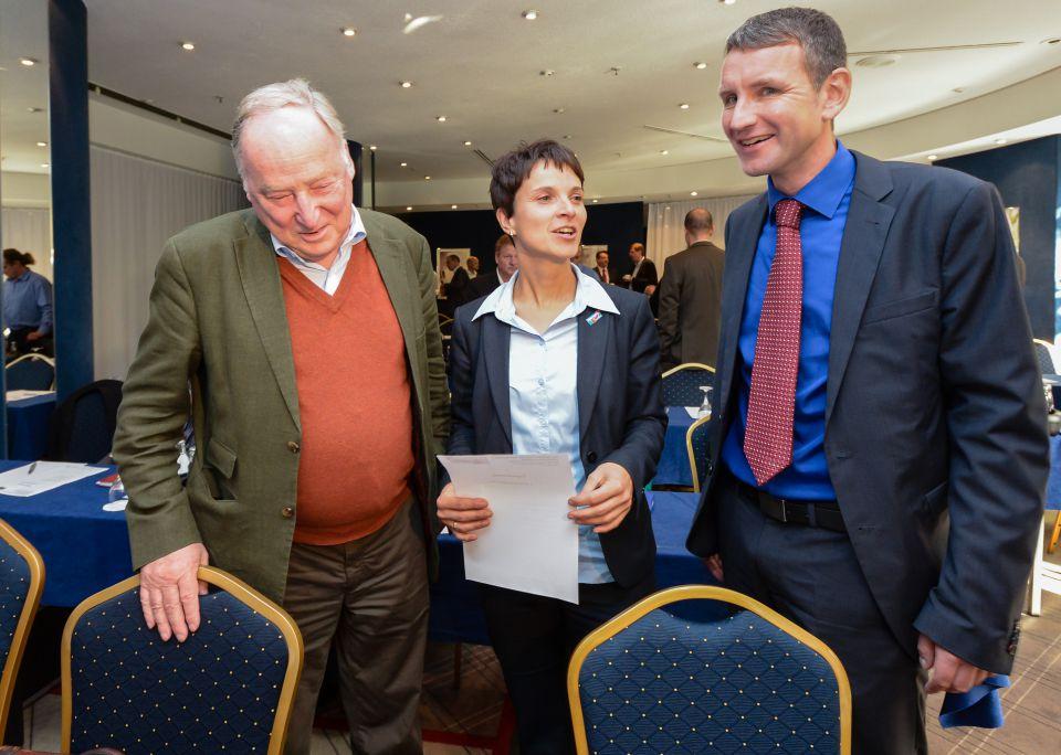 Gauland, Petry und Höcke (von links)