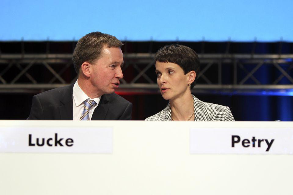 Bernd Lucke und Frauke Petry