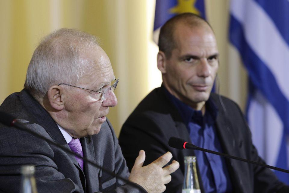 Schäuble und Griechenlands Finanzminister Varoufakis