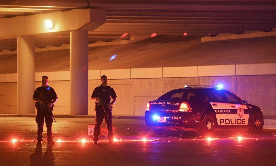 Polizisten in Garland