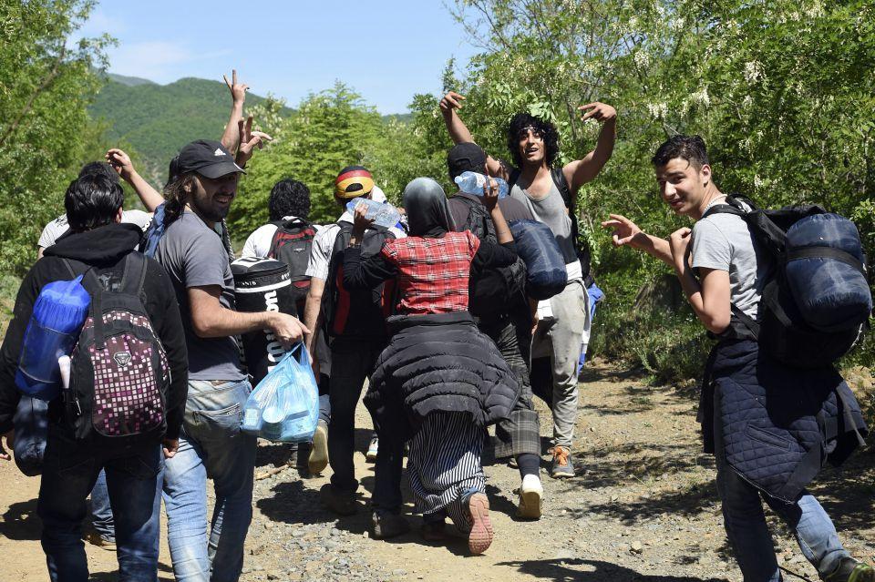 Illegale Einwanderer an der griechischen Grenze