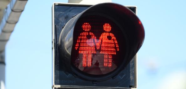 Homosexuelle Ampelmännchen in Wien