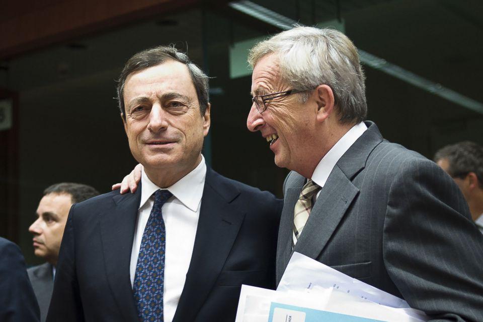 EZB-Chef Mario Draghi und Jean-Claud Juncker