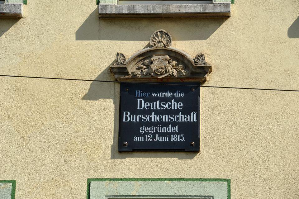 """Gedenktafel am Gasthaus """"Grüne Tanne"""" in Jena"""