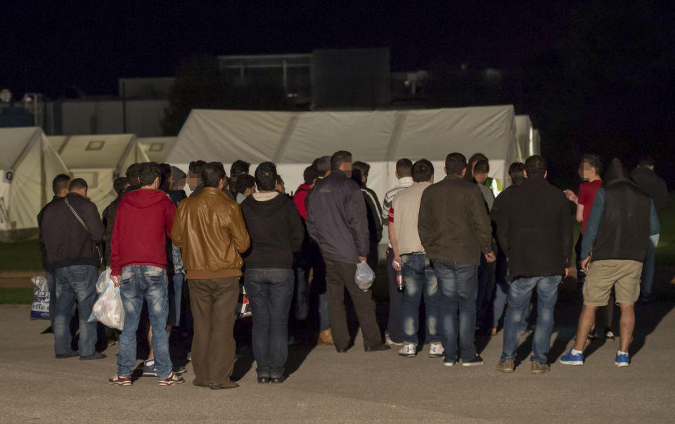 Zeltstadt für Asylbewerber in Linz