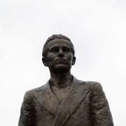 Das zwei Meter hohe Denkmal in Belgrad zeigt den Attentäter von Sarajewo, Gabrilo Princip Foto: picture alliance / dpa