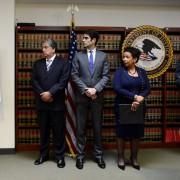 Die amerikanische Justizministerin Loretta E. Lynch (rechts) leitet die US-Ermttlungen gegen die Fifa Foto: picture alliance/dpa