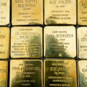 Stolpersteine mit Daten Münchner NS-Opfer: Weiterhin nicht erlaubt Foto: picture alliance / dpa