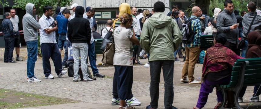 Asylbewerber in Berlin: Das Volk wird ausgetauscht Foto: picture alliance/dpa