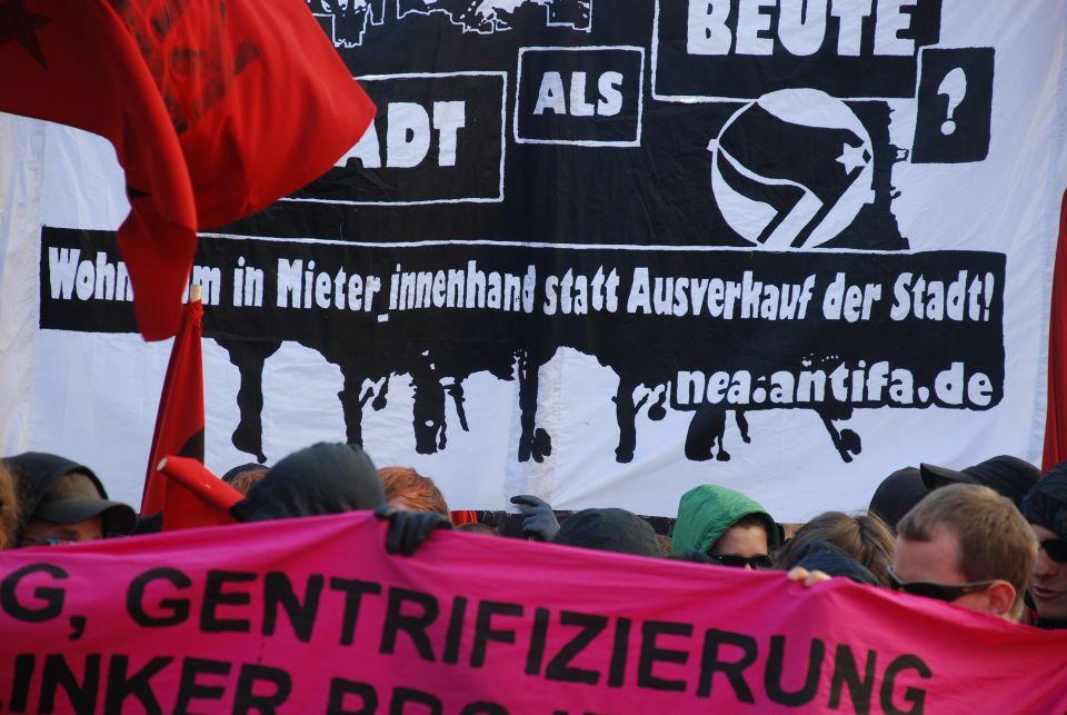 """Demonstration gegen """"Gentrifizierung"""" (Symbolbild)"""