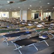Feldbetten für Asylbewerber: Der VIP-Bereich des Müncher Olympiastadions (Bild) wurde bereits im Oktober 2014 umfunktioniert Foto: picture alliance/dpa