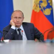 Wladimir Putin: Rußlands Präsident macht Amerika für die Probleme in Europa verantwortlich Foto: picture alliance/dpa