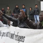 Asylbewerber in Berlin demonstrieren für mehr Rechte Foto:  picture alliance / Eventpress