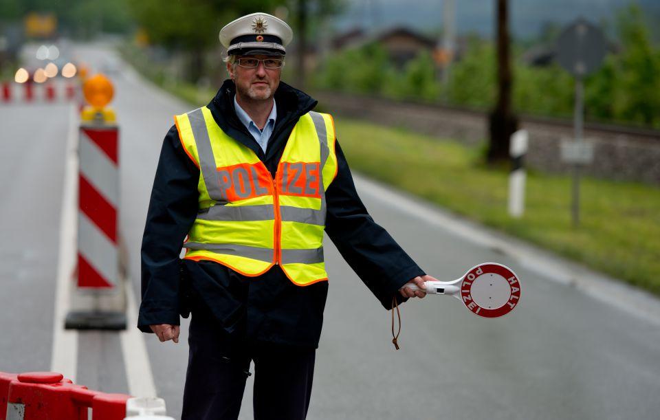 Grenzkontrolle während des G7-Gipfels