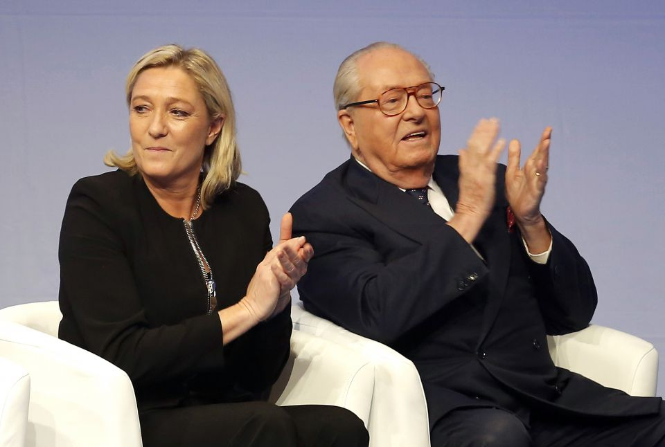 Marine und Jean-Marie Le Pen (2014)