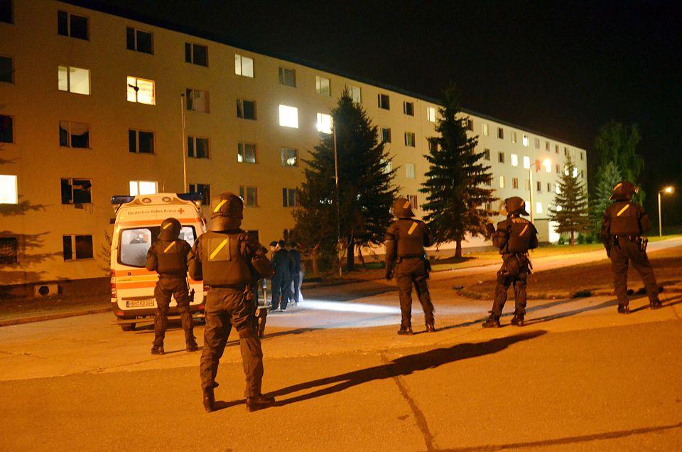 Polizeieinsatz in der Nacht