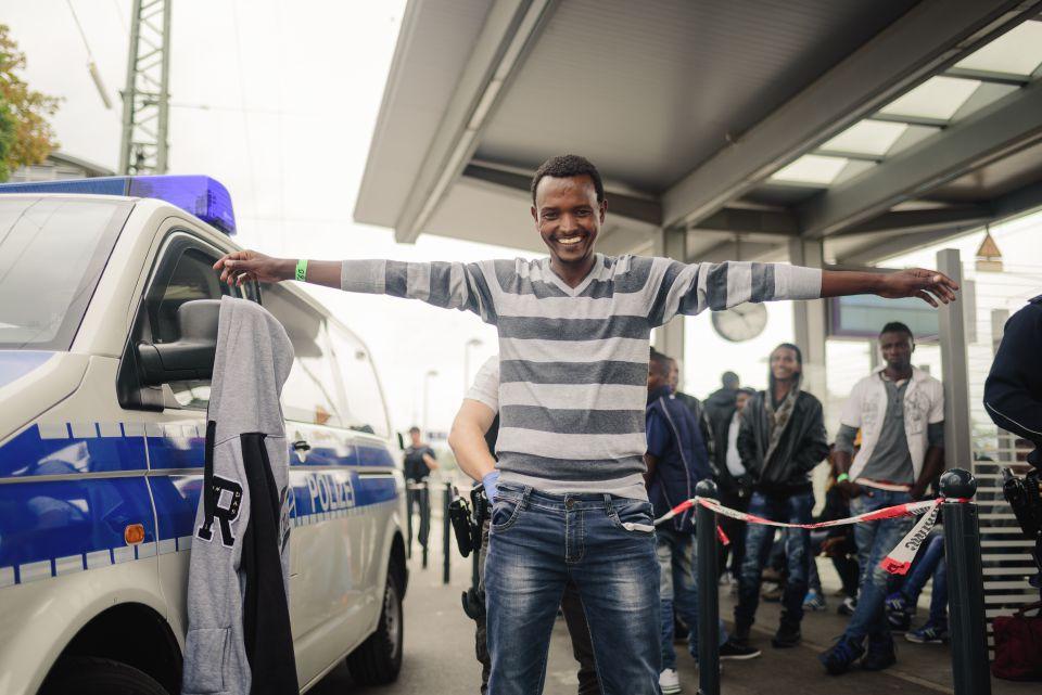 Mann aus Eritrea in Rosenheim