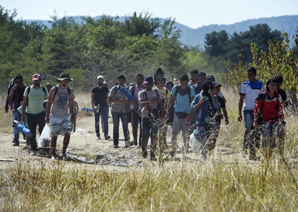 Syrer in Mazedonien