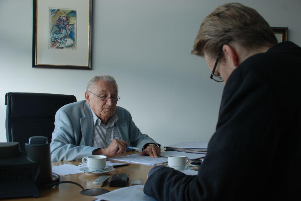 Egon Bahr im Gespräch mit JF-redakteur Moritz Schwarz