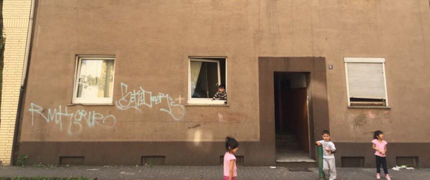 Kinder im Roma-Viertel von Marxloh Foto: JF