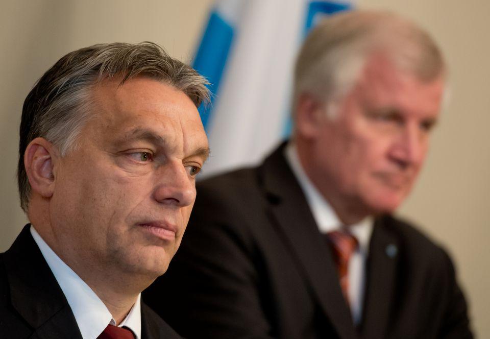 Viktor Orbán (l) und Horst Seehofer