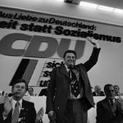 Franz Josef Strauß auf dem CDU-Parteitag 1976: Es fehlen Politiker von seinem Format Foto: picture alliance / Fritz Rust