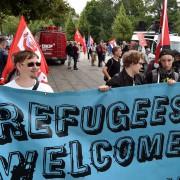 Demonstration in Frankfurt/Oder: Landkreise überfordert Foto: dpa