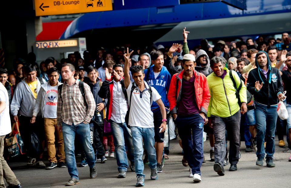 Asylsuchende kommen in München an