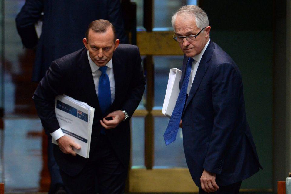 Tony Abbott (l) und Malcolm Turnbull