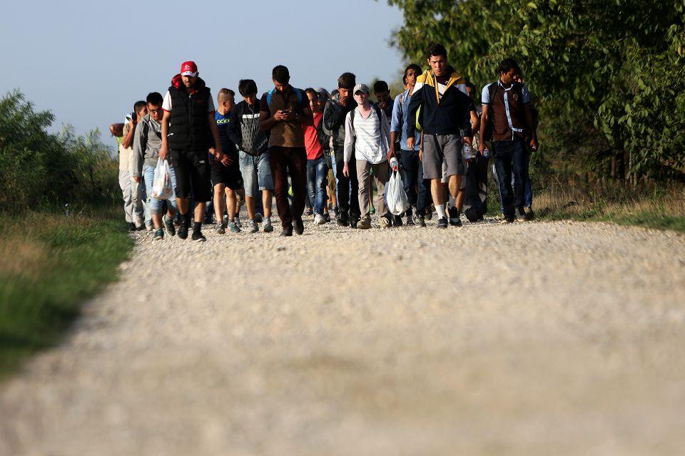 Asylsuchende auf dem Weg nach Deutschland