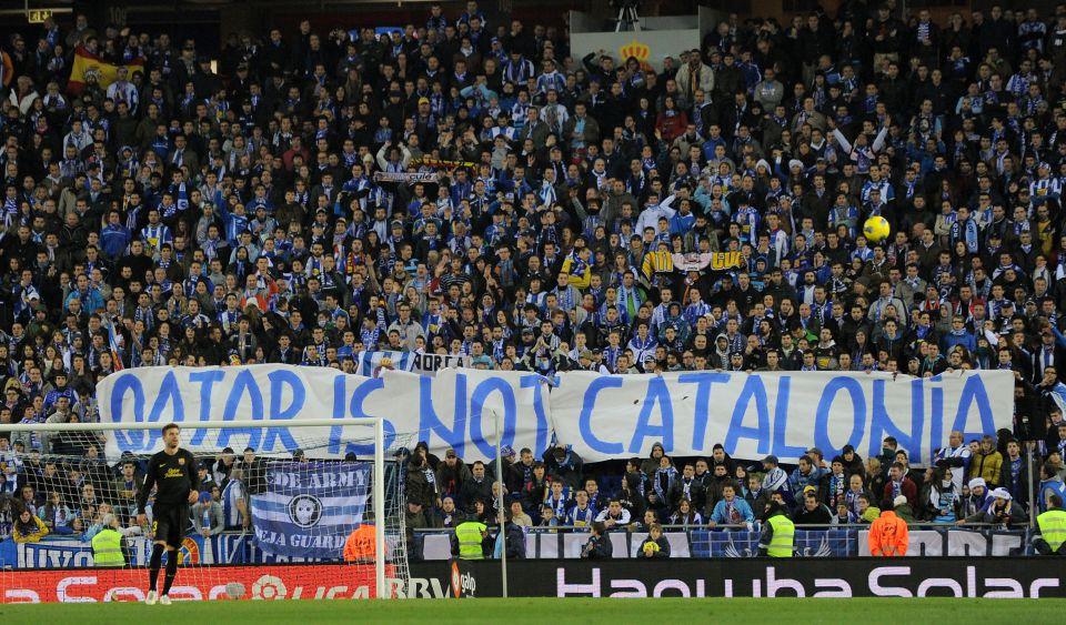 Barcelona-Fans kritisieren Katar