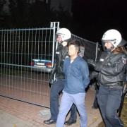 Polizei nimmt Asylbewerber in Hamburg fest: Einsatz der Reiterstaffel Braunschweig Foto:  picture alliance/rtn - radio tele nord