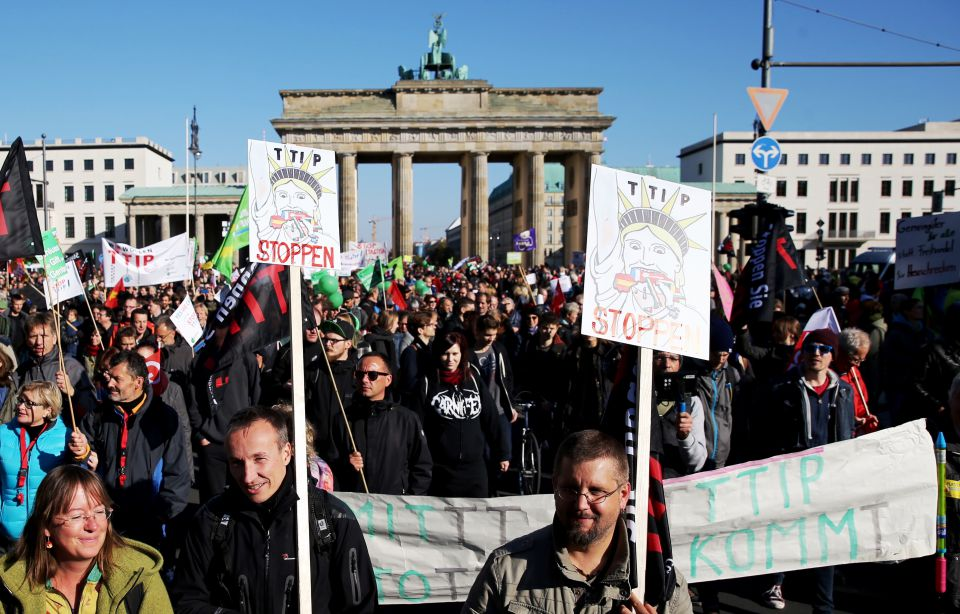 Anti-TTIP-Demonstration in Berlin