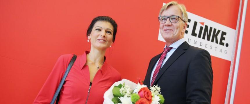Sahra Wagenknecht und Diemtar Bartsch sind mit großer Mehrheit zur neuen Fraktionsspitze gewählt worden Foto: picture alliance/dpa