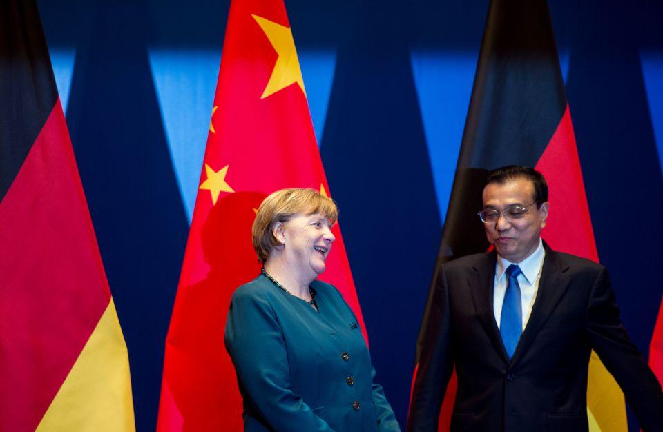 Merkel und Li in China