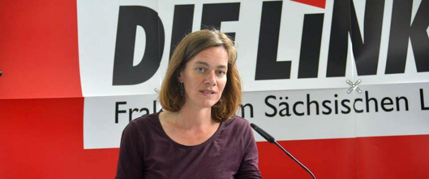 Juliane Nagel: Der Linken-Politikerin wird vorgeworfen, eine ehemalige DDR-Bürgerrechtlerin bedroht zu haben Foto: picture alliance/dpa