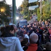 Blockade des Zufahrtswegs zum Pionierlager in Chemnitz-Einsiedel Foto: Facebook/Pegida-Chemnitz