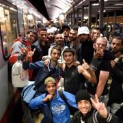 Asylsuchende erreichen im September Saalfeld in Thüringen Foto: picture alliance/ZB/dpa