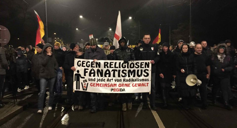 Islamkritische Pegida-Demonstration in Dresden (Januar 2015) Foto: rg
