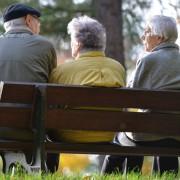 Rentner auf Parkbank: Rente mit 70 gefordert Foto: dpa