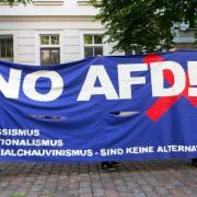 Anti-AfD-Kundgebung (Symbolbild): Brauerei setzt WIrt unter Druck Foto:  picture alliance/Geisler-Fotopress