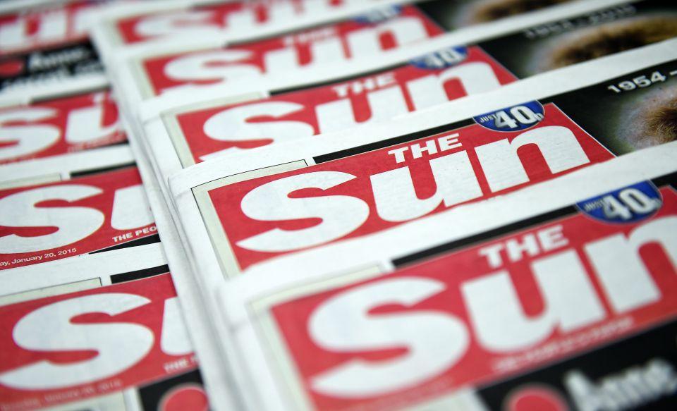 """Zeitung """"The Sun"""""""