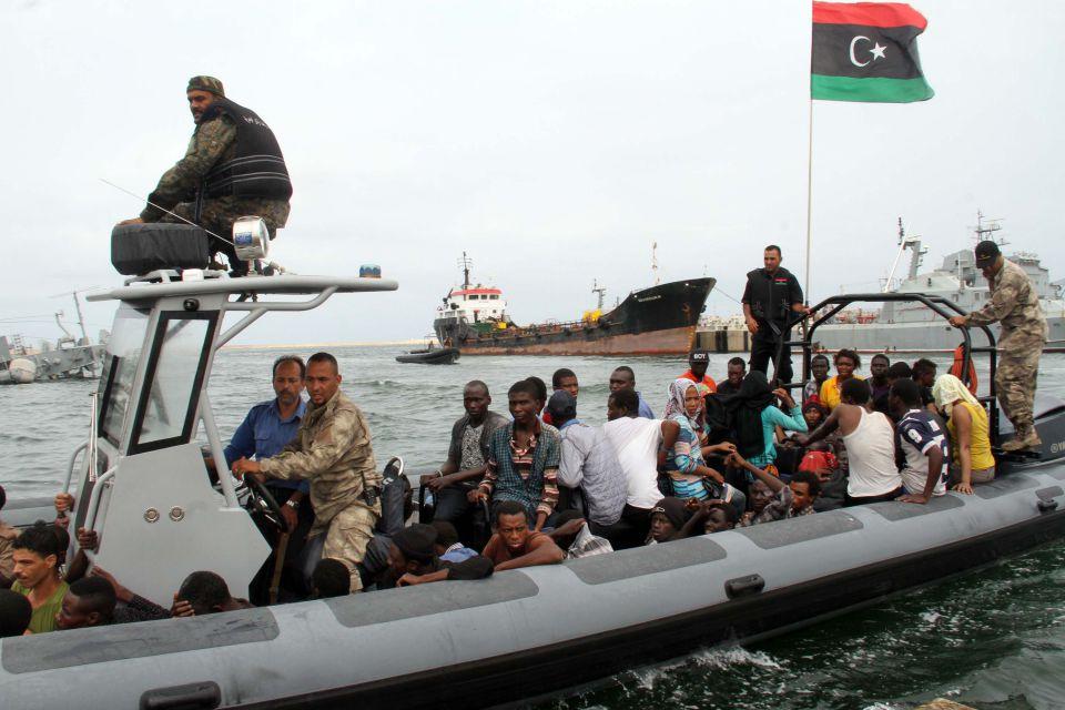 Flüchtlinge aus Libyen