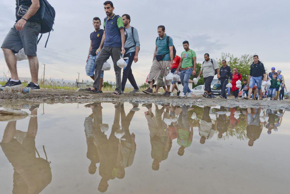 Asylsuchende auf dem Weg nach Mitteleuropa
