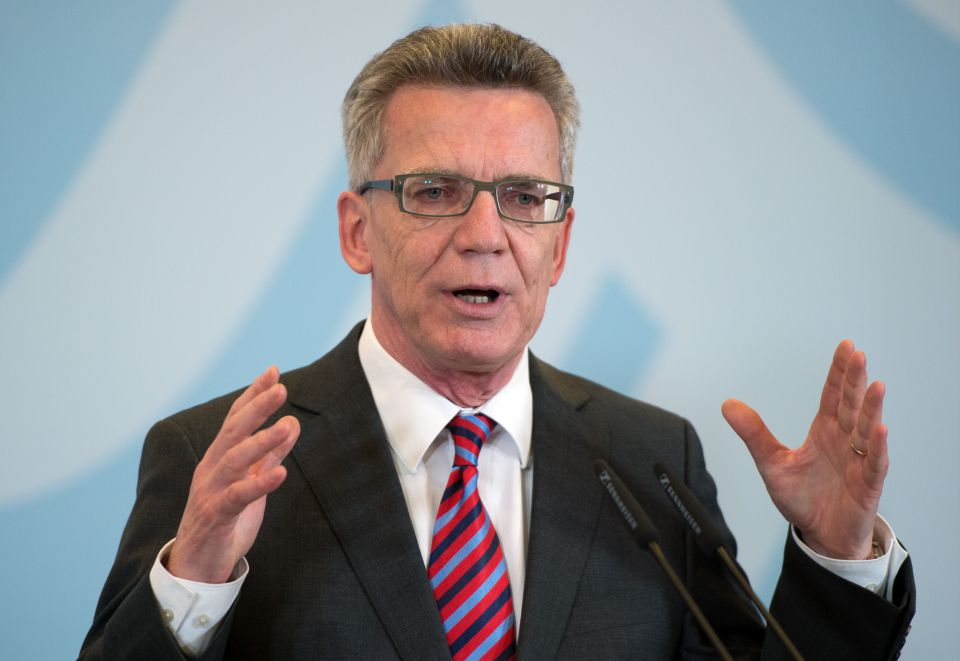 Thomas de Maizière bei einer Konferenz am 4. November 2015 Foto: Picture-Alliance/ Soeren Stache