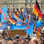 AfD-Demonstration in Berlin: Umfragewerte steigen Foto: dpa