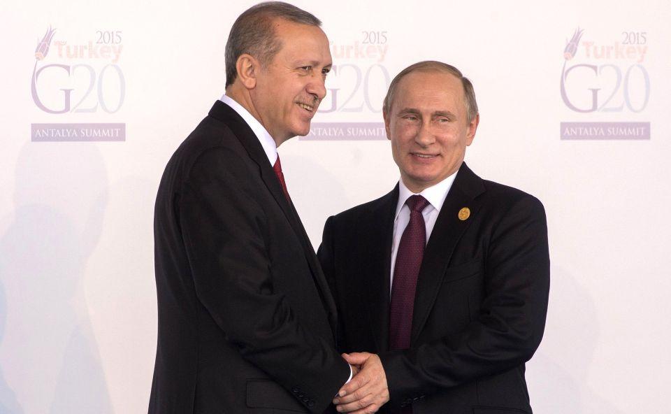 Erdogan (l) und Putin