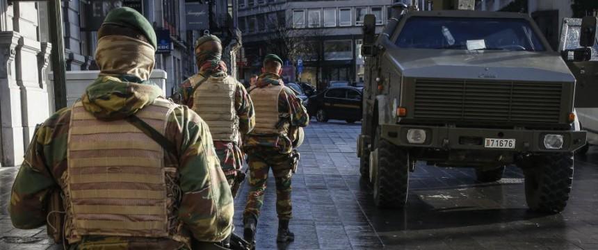 Soldaten in der Brüsseler Innenstadt: Die Kehrseite von Multikulti Foto: picture alliance / dpa