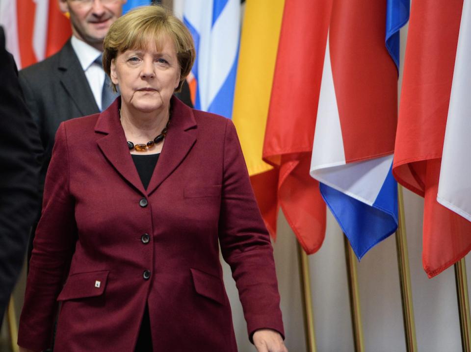 Angela Merkel nach dem Gipfel