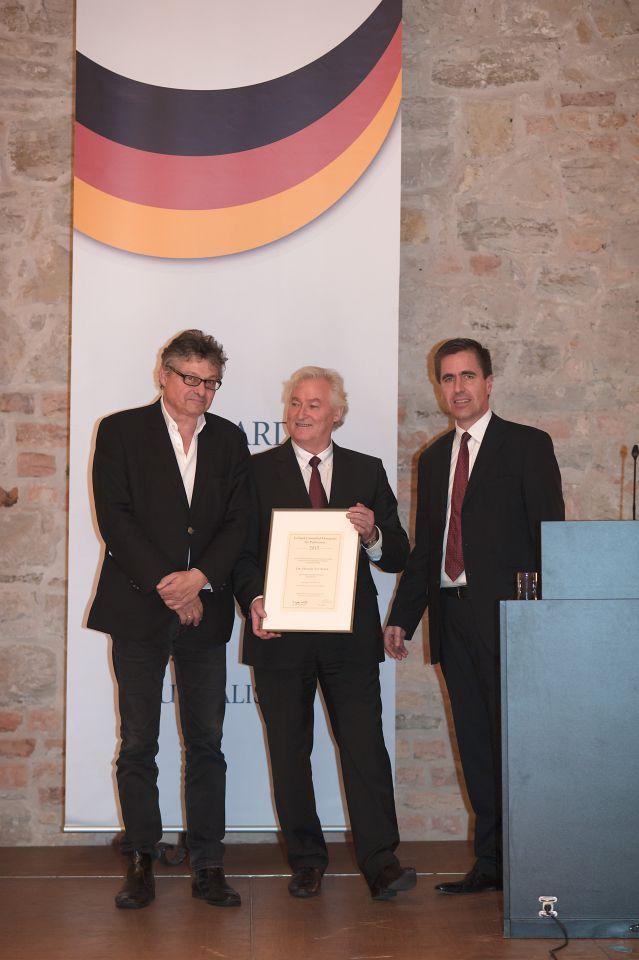 Matussek, Schwilk und JF-Chefredakteur Dieter Stein (v.l.n.r)